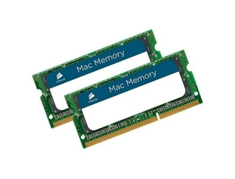 Memória RAM SODIMM CORSAIR DDR3 2X4GB 1333 MHz Apple Qualified — 2 x 4 GB | 1333 MHz | DDR3