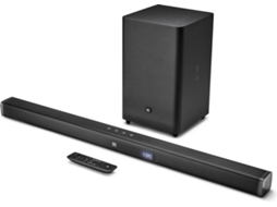 Soundbar JBL Bar 2.1 — Bluetooth | Subwoofer sem fios