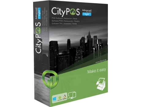 Software CITYPOS Advanced Light + Hardlock USB — Software | Gestão Profissional