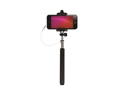 Selfie Stick Wired GOODIS Atlantis Black — Compatibilidade: Universal / 25 a 85 cm