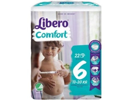 Fraldas LIBERO Comfort 6 (22 Unidades)