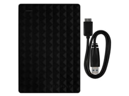 Disco HDD Externo SEAGATE Expansion Portable 2TB (Preto - 2 TB - USB 3.0) — 2.5'' | 2TB | USB 3.0
