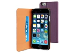 Capa iPhone 6, 6s, 7, 8 MUVIT Wallet Roxo — Compatibilidade: iPhone 6, 6s, 7 ,8
