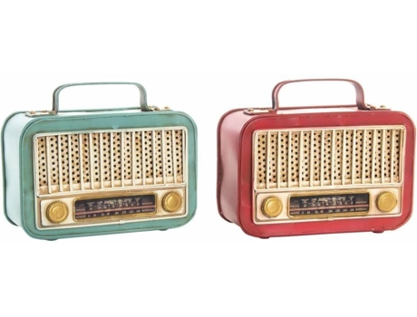 Pack 2 Rádio Retro Decor ITEM Metal 2 Cores — Retro - Metal