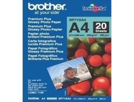 Papel Fotográfico BROTHER Glossy