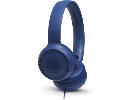 Auscultadores Com fio JBL Tune 500 (On Ear - Microfone - Azul) | [6768998 ]
