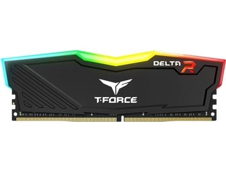 Memória RAM  TEAM GROUP T-Force CL16 Delta RGB Black — 2x4GB | DDR4 | 3000Mhz