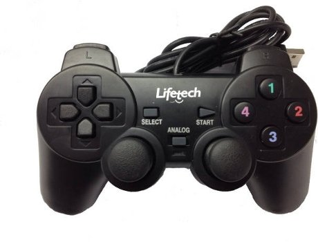 Comando LIFETECH LFGAM007 (PC - USB) — Com fio USB | Para PC e PS3