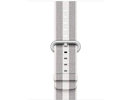 Bracelete APPLE 38mm White Stripe Woven Nylon — Bracelete | 38mm