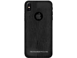 Capa TRUSSARDI Leather iPhone X, XS Preto — Compatibilidade: iPhone X, XS
