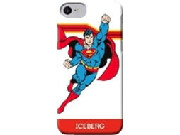 Capa ICEBERG Superman Flying iPhone 6, 6s, 7, 8 Vermelho — Compatibilidade: iPhone 6, 6s, 7, 8