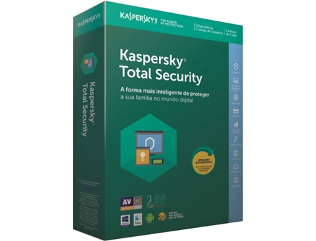 Software KASPERSKY Total Security 2018 5 Users — Software | Segurança