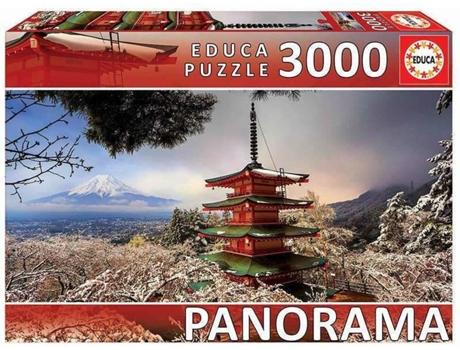JOGOS E BRINQUEDOS KIDS - Puzzle Monte Fuji Japão Panorama 3000 Peças