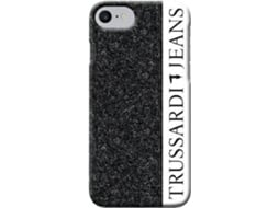 Capa TRUSSARDI Glitter iPhone 7, 8 Preto — Compatibilidade: iPhone 7, 8
