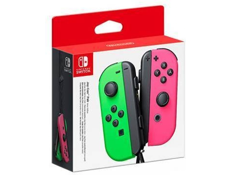 Comando Joy-Con (Set Esq/Dir) Verde Néon/Rosa Néon (Wireless) — Nintendo Switch