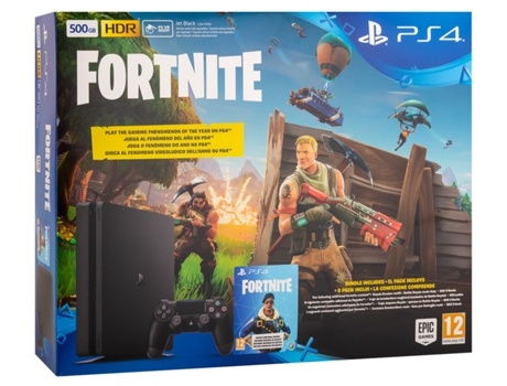 Consola PS4 Slim 500 GB + Jogo Fortnite — 500 GB