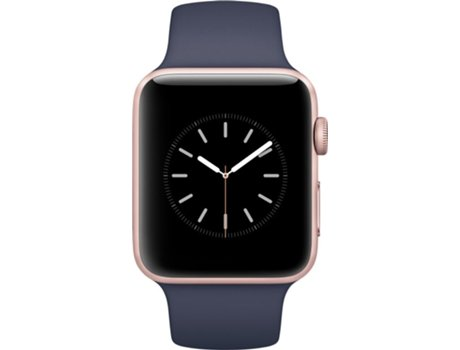 APPLE Watch Series 2 42mm Rose Gold Aluminium Case Midnight Blue Band — iOS / 42 mm / Bluetooth 4.0 e Wi-Fi