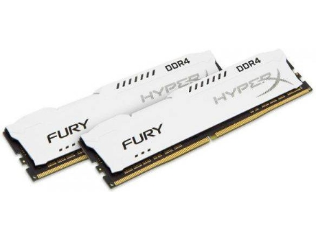 Memória RAM KINGSTON Hyperx Fury White 32GB DDR4 2133Mhz CL14 DIMM (Kit de 2) — 32GB | DDR4 | 2133Mhz