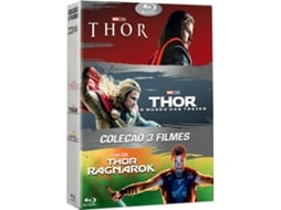 Blu-Ray Pack Thor 1+2+3 — De: Taika Waititi, Alan Taylor, Kenneth Branagh | Com: Chris Hemsworth, Natalie Portman