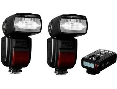 Kit Flashes HAHNEL Pro Modus 600RT Canon — NG: 60 | Compatibilidade: Canon