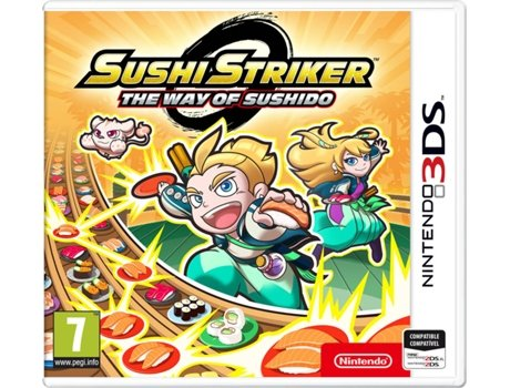 Jogo Nintendo 3DS Sushi Striker: The Way of Sushido — Puzzle | Idade mínima recomendada: 6
