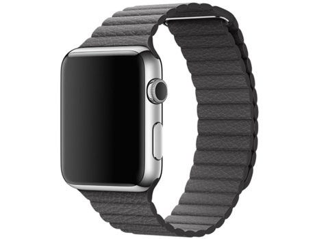 Bracelete APPLE Watch 42 mm Storm Gray Leather Loop - Medium — Dimensões: 42mm / Smartwatch não incluído