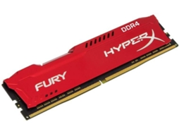 Memória RAM KINGSTON Hyperx Fury Red 8GB DDR4 2400Mhz CL15 DIMM 1RX8 — 8GB | DDR4 | 2400Mhz