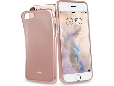 Capa SBS Book Slim iPhone 6, 6s, 7, 8 Rosa — Compatibilidade: Apple iPhone 6, 6s, 7, 8