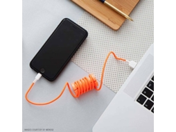 Cabo Lightning PHILO Spool Laranja — USB - Lightning | 1 m