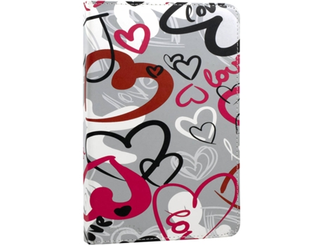 Capa Tablet  7'' E-VITTA Crazy Hearts — 7''