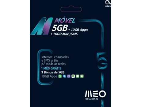 CARTÃO M 1M+5GBX3 | [7120351 ]