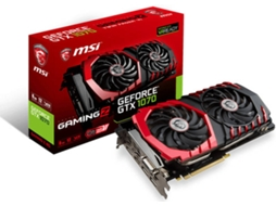 Placa Gráfica MSI GeForce GTX 1070 Gaming Z (NVIDIA - 8 GB DDR5) — NVIDIA | GTX 1070