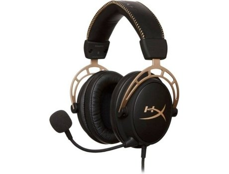 Auscultadores Gaming HYPERX Cloud Alpha Gold (Com Microfone)