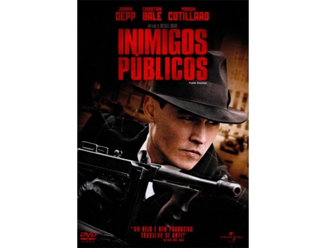 DVD Inimigos Públicos — De: Michael Mann | Com: Billy Crudup, Christian Bale, Johnny Depp