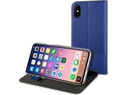 Capa MUVIT Libro Stand iPhone X Azul — Compatibilidade: iPhone X