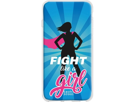 Capa LG V50 ThinQ 5G TECHCOOL Fight Like a Girl Azul