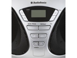 Rádio AUDIOSONIC CD-1569 (Cinza - Digital - FM - Pilhas) — Digital