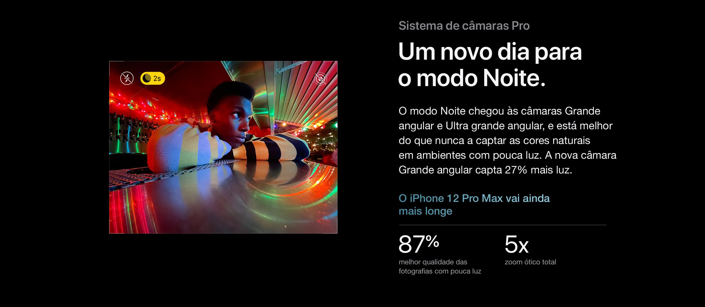 iPhone 12 Pro e iPhone 12 Sistema de câmaras Pro