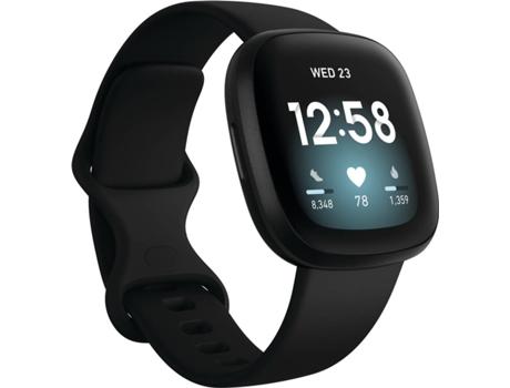 Relógio Desportivo FITBIT Versa 3 (Bluetooth - Até 6 dias de autonomia -  Ecrã Tátil - Preto)   Worten.pt
