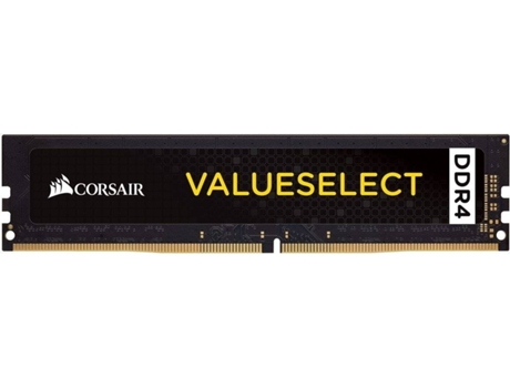 Memória RAM CORSAIR 4GB DDR4 2400Mhz 1X288 DIMM Unbuffered — 4GB | DDR4 | 2400Mhz
