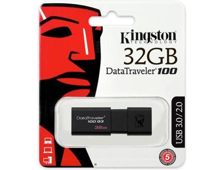 Pen Usb Kingston Dt100G3 -32Gb   [5121924 ]