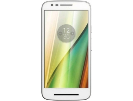 Smartphone LENOVO Moto E3 8 GB Branco — Android 6.0 | 5'' | Quad-core 1.0 GHz  | 1 GB RAM
