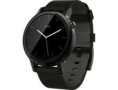 Smartwatch MOTOROLA Moto 360 Dali Fashion Black Leathernac Leather — Android