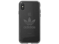Capa ADIDAS Seethrough gunmetal iPhone X cinzento — Compatibilidade: iPhone X