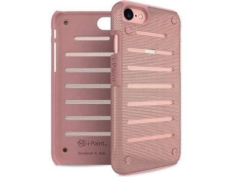 Capa I-PAINT Metal iPhone 7, 8 Rosa — Compatibilidade: iPhone 7, 8