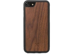 Capa WOODACESSORIES Collision Walnut iPhone 7, 8 Castanho — Compatibilidade: iPhone 7, 8