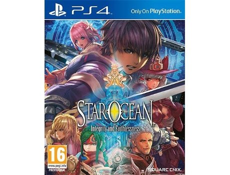 Jogo PS4 Star Ocean - Integrity and Faithlessness — RPG / Idade Mínima Recomendada: 16