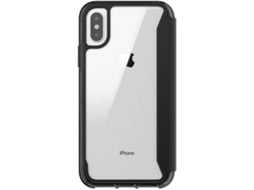 Capa GRIFFIN Clear Wallet iPhone X, XS Preto — Compatibilidade: iPhone X, XS