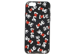 Capa MOSCHINO Love iPhone 6, 6s Preto — Compatibilidade: iPhone 6, 6s