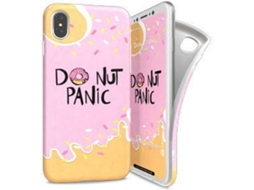 Capa I-PAINT Soft Donut Panic iPhone X Rosa — Compatibilidade: iPhone X